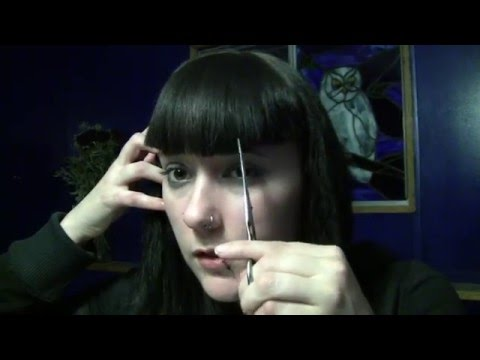 How to Trim And Style Bettie Page Bangs