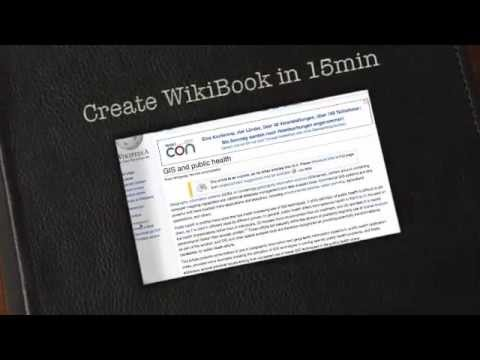 Create a WikiBook in 15min for GIS & Public Health