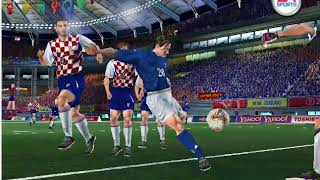 fifa world cup 2002 pc gameplay-Italy vs Croatia 5-1