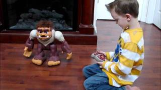 fisher price imaginext bigfoot the monster review by 5 years old boy