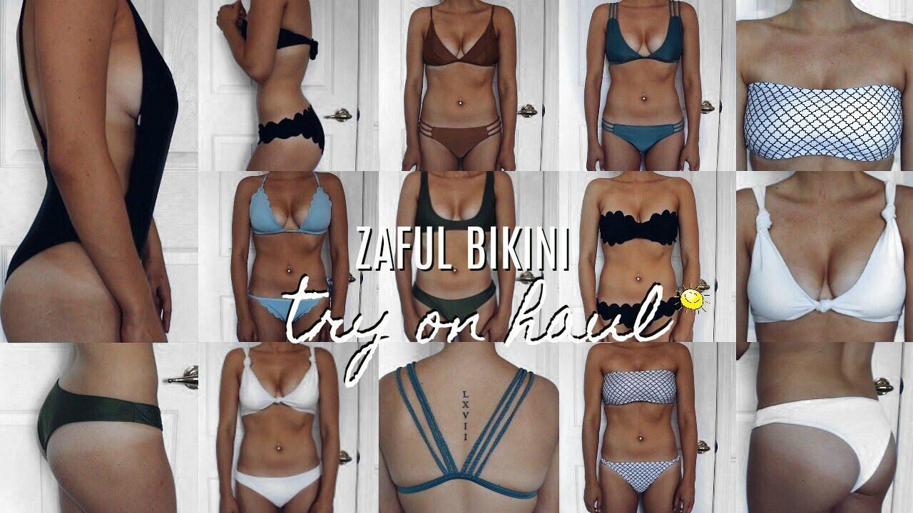 511bd685f5 HUGE ZAFUL BIKINI TRY ON HAUL - UNDER $20 | KYLIE AALIYAH - YouTube