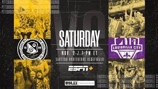 2019 USL Championship Playoffs: Pittsburgh Riverhounds SC vs. Louisville City FC