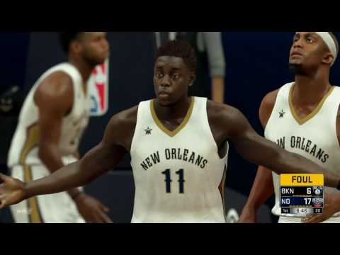NBA 2K17 - Brooklyn Nets vs New Orleans Pelicans - Full Game - Simulation Nation