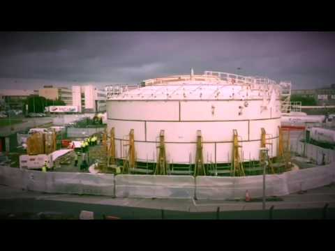 Erection Tank 3. Dublin Airport Fuel Farm DFBOT