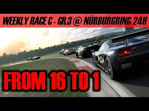 GT Sport - From 16th to 1st In Two Laps On Nürburgring 24h - Weekly Race C
