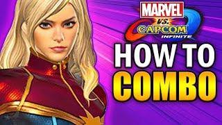 CAPTAIN MARVEL Combo Guide - Marvel Vs Capcom Infinite - Basic To Advanced!