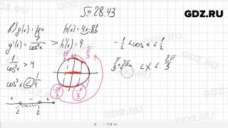 № 28.43 - Алгебра 10-11 класс Мордкович