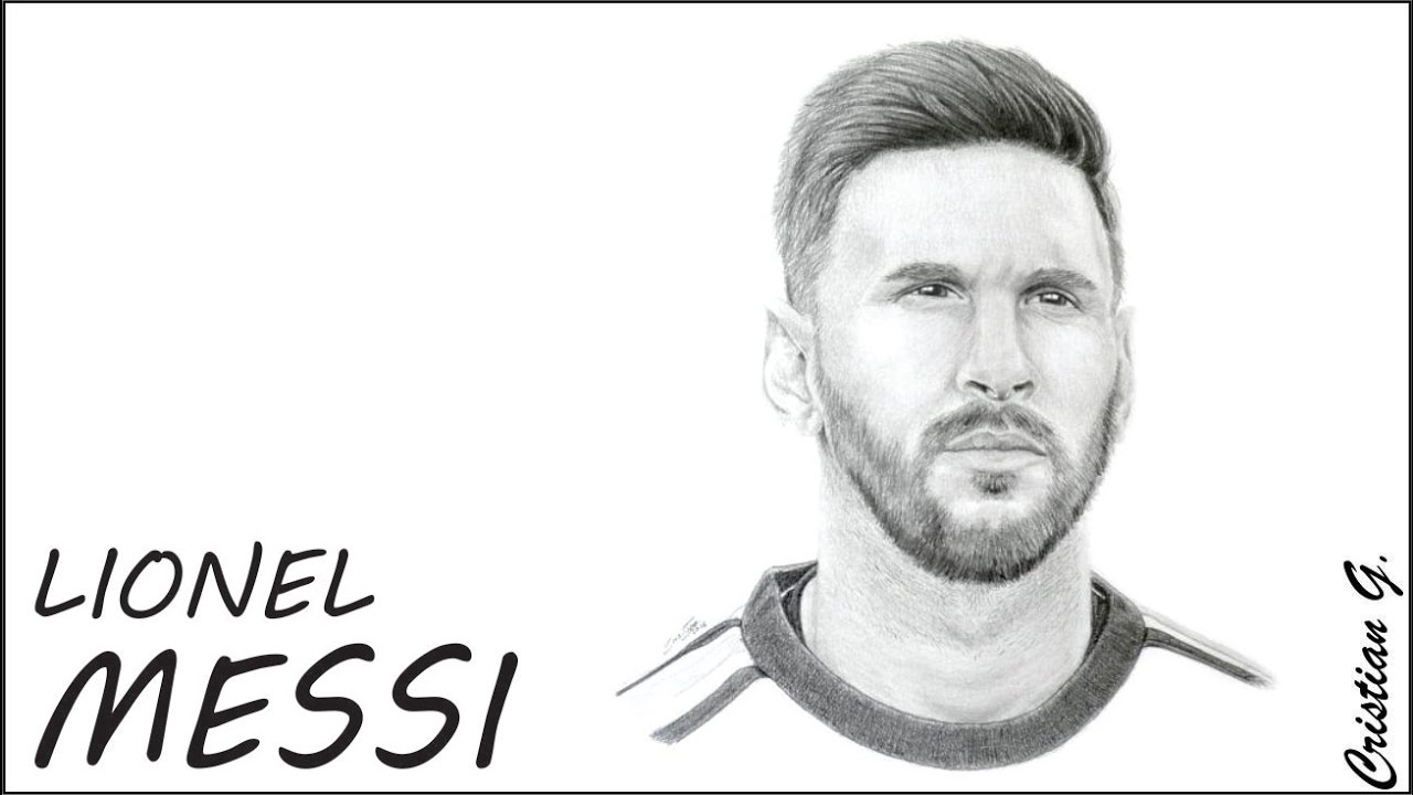 How to draw MESSI with beard  YouTube