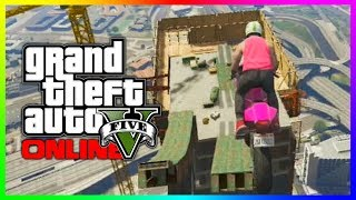 GTA 5 Funny Moments & Epic Races - UNREAL SKY JUMPS! (GTA V Stunts)