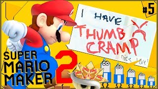 Super Mario Maker 2 #5 - Poziom o ścianach, co się z nich odbija (trochę trudny i bolesny)