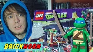 LEGO Черепашки! #3 - Turtle Lair (Lego TMNT) - Brickworm