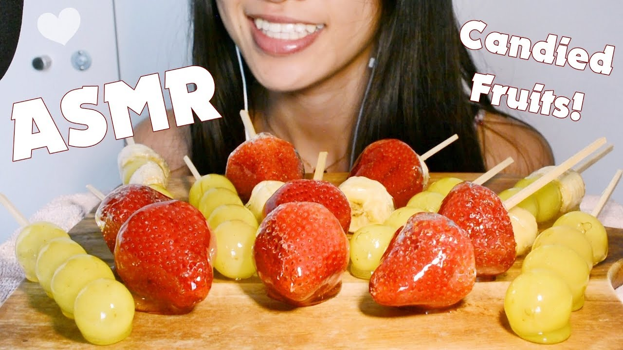 Asmr Candied Fruits Strawberries Grapes Bananas Extreme Crunchy Eating Sounds Youtube I hope you guys try them too! asmr candied fruits strawberries grapes bananas extreme crunchy eating sounds