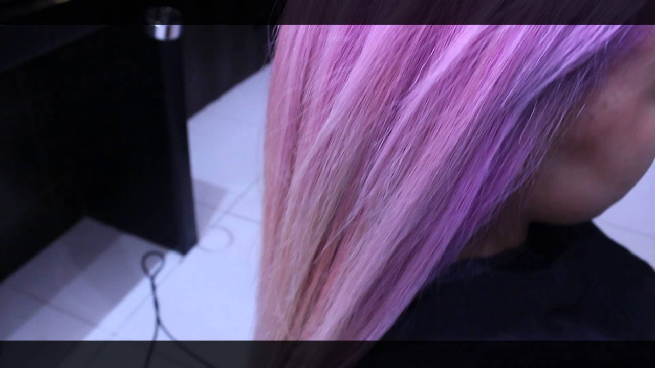How to dark brown pastel purple at anesis using wella colour youtube also rh