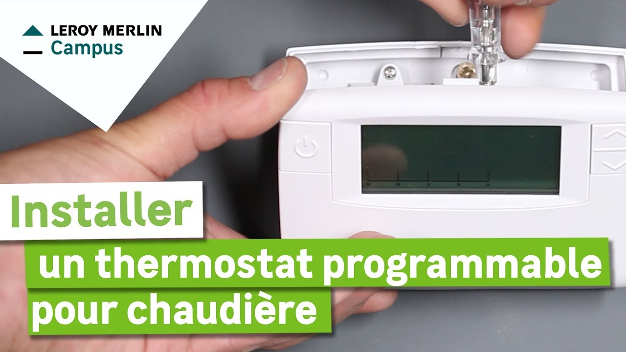 Passe Cable Au Sol Comment Installer Un Thermostat Programmable Pour