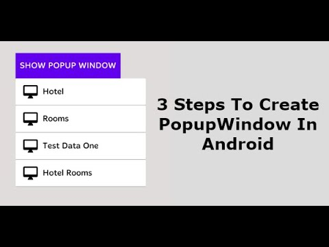Popupwindow Android example