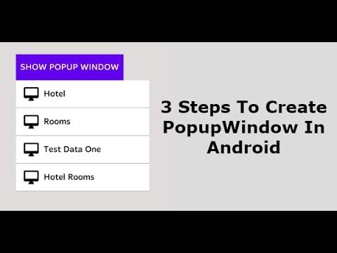 Popupwindow Android example