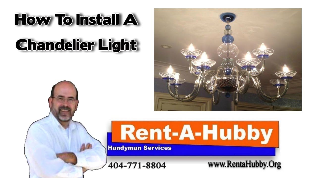 How to install a chandelier light youtube how to install a chandelier light arubaitofo Images