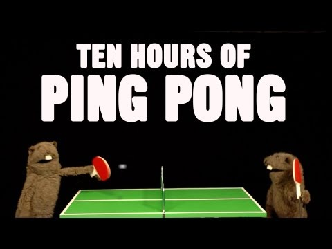 Fafa plays ping pong with Fafa for 10 hours