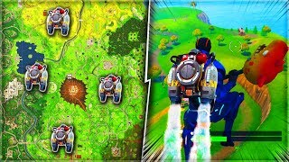 "SECRET ""JETPACK"" LOCATIONS in FORTNITE! - FLY AROUND THE MAP WITH JETPACKS! (EASY TUTORIAL)"