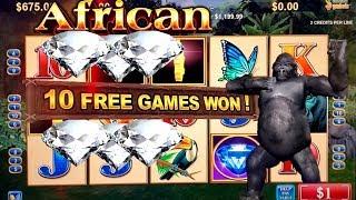 High Limit African Diamond Slot Machine Bonus | Season 8 | Episode #26