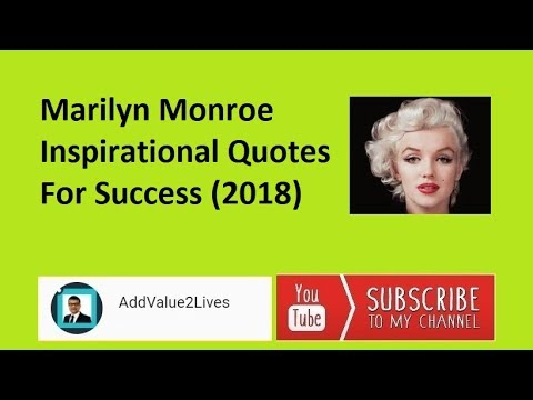 Marilyn Monroe Inspirational Quotes For Success (2018)