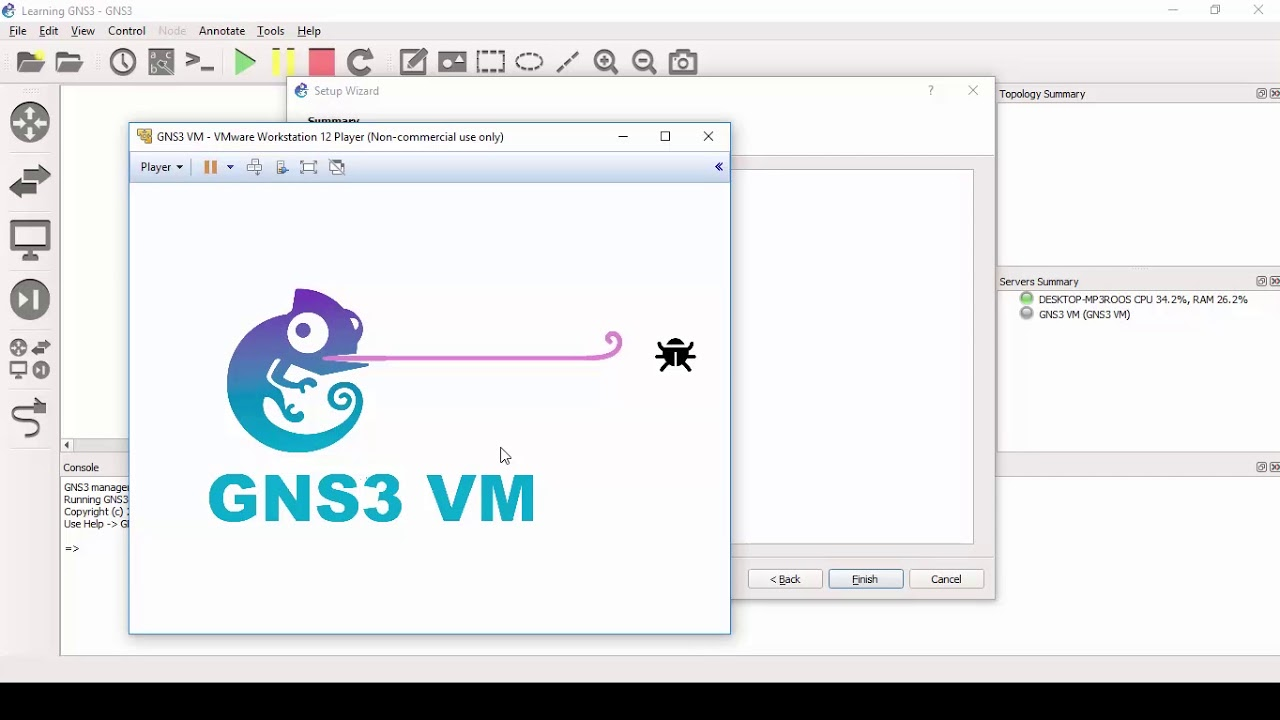 How to Setup and Import GNS3 VM Using VMware