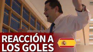 Y Roncero volvió a vibrar con España: ¡su reacción a los goles!
