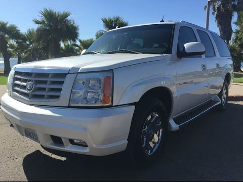2005 cadillac escalade esv for sale full walk around 98k 1 owner pearl white youtube. Black Bedroom Furniture Sets. Home Design Ideas