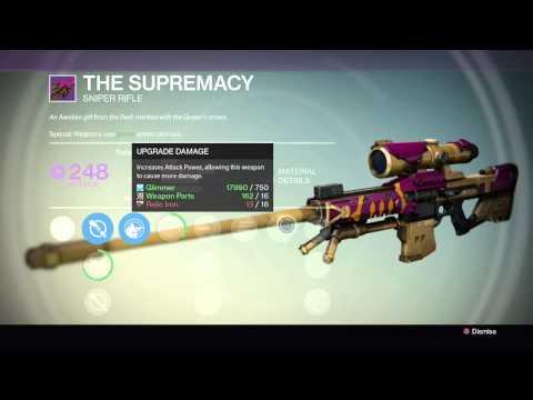 Destiny:The Supremacy Sniper(Legendary Weapon)
