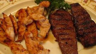 Betty's Garlic Grilled New York Strip Steak