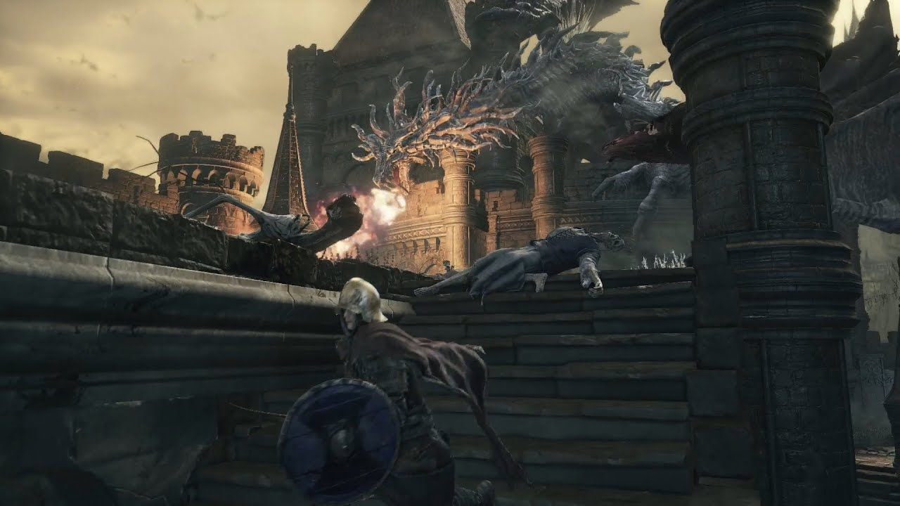 Image result for dark souls 3 high wall of lothric dragon