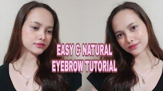 Beauty makeup tutorial asmr(मेकअप) - Easy / Natural Eyebrow Tutorial - Kahreen E.