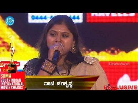 SIIMA 2014 Best Singer Female Kannada    Vani Hari Krishna