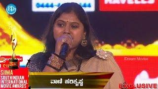 SIIMA 2014 Best Singer Female Kannada || Vani Hari Krishna
