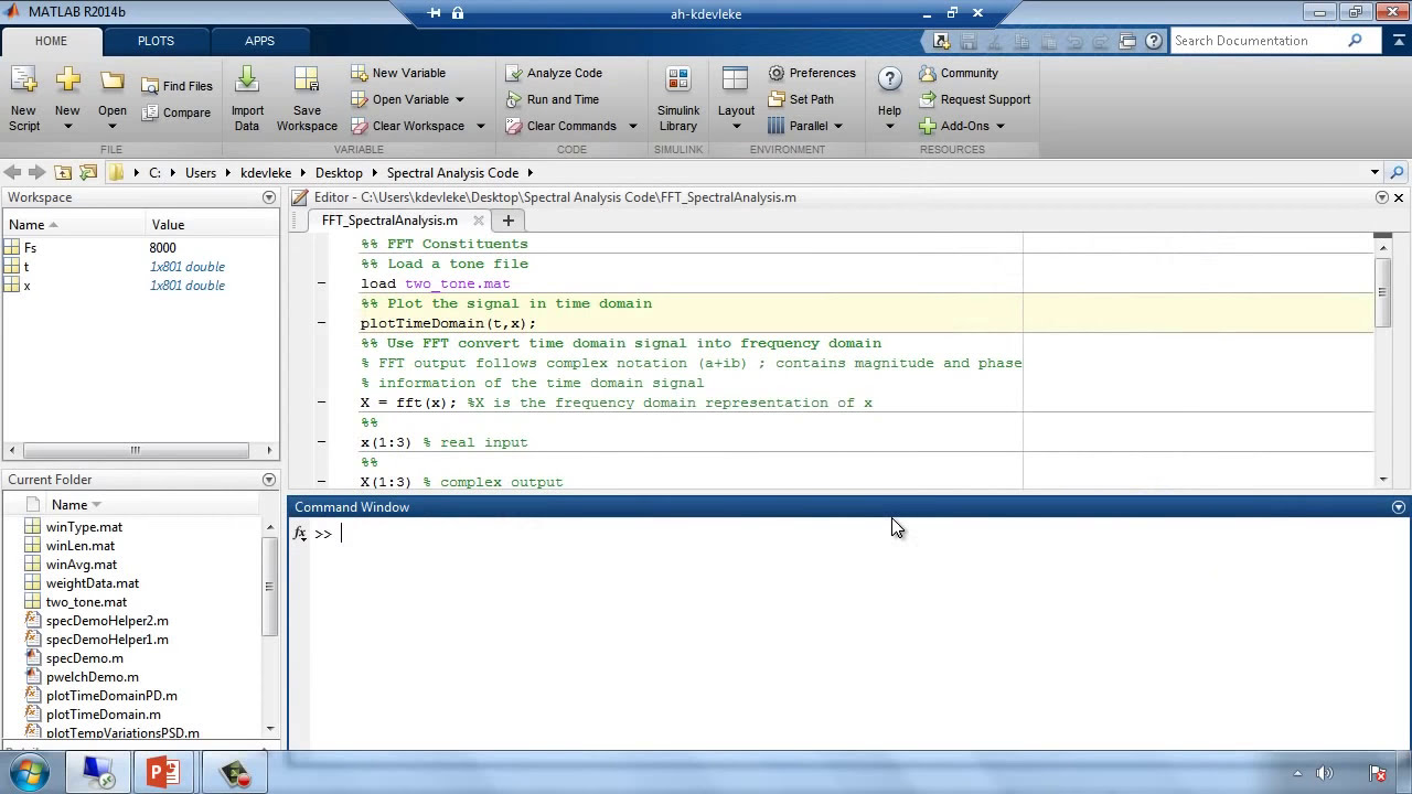 Spectral Analysis With Matlab  Matlab Software 34:01 HD