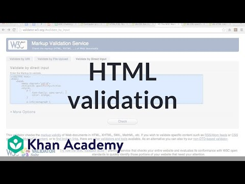 HTML Validation | Computer Programming | Khan Academy