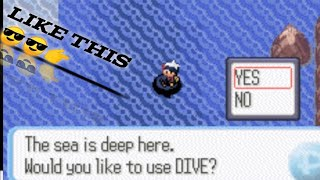 Gambar cover How to get DIVE in pokemon emerald version and to get to a secret base of team aqua