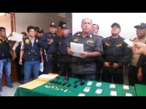 EN TIEMPO RECORD LA POLICÍA CAPTURÓ A BANDA QUE ROBO BANCO DE LA NACIÓN