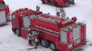 重要文化財を守ろう! 火災防御訓練画像