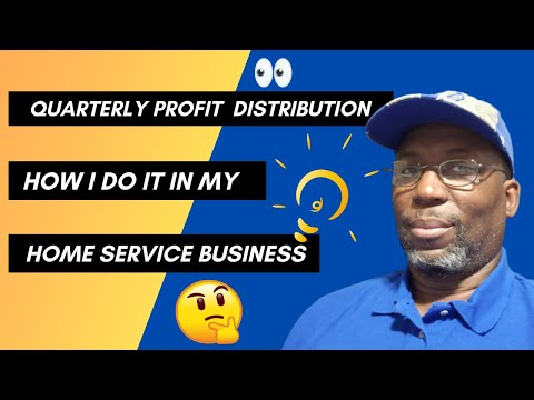 How I do quarterly profit distribution in my single member llc