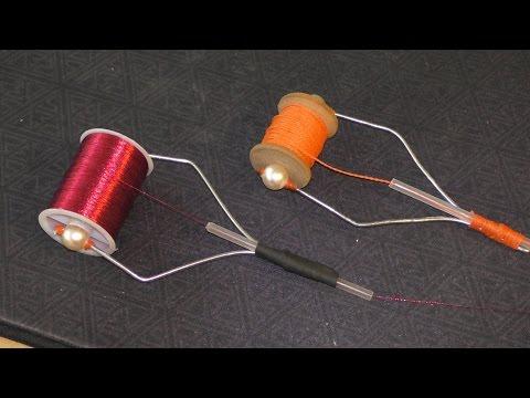 Как сделать держатель катушки с ниткой для вязания мушек.My fishing.