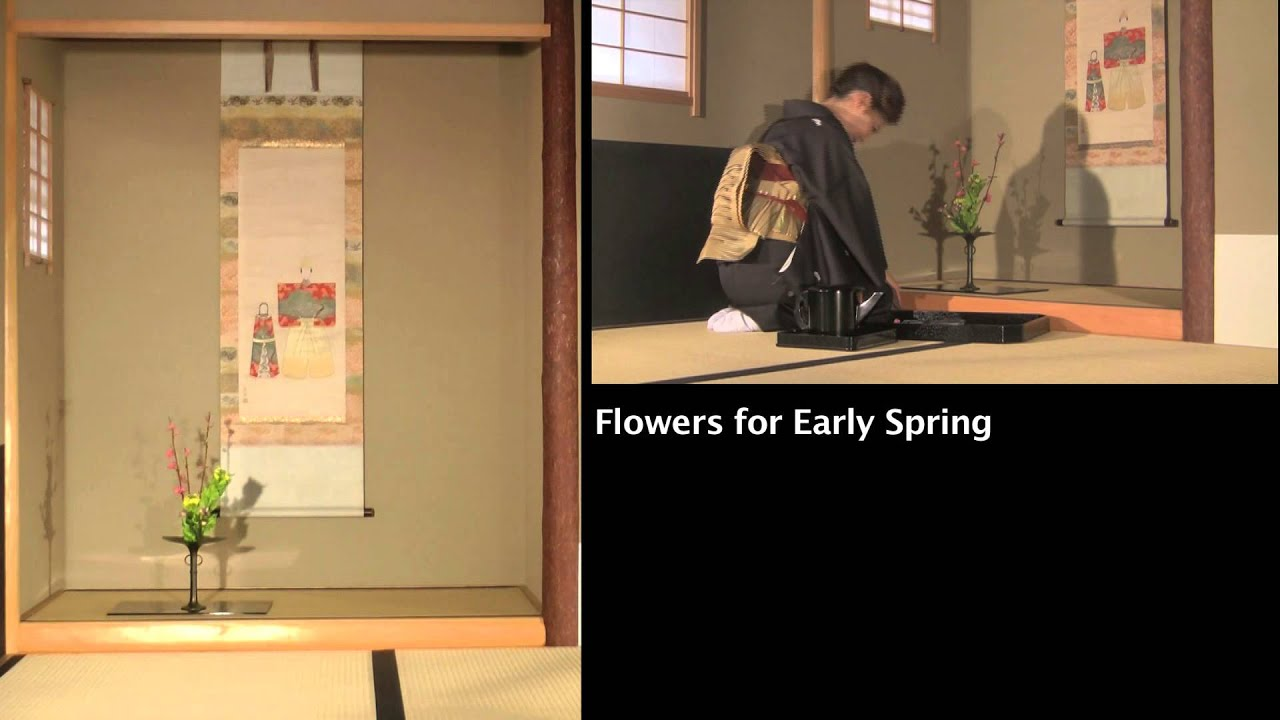 japanese hanging scrolls and flower arrangements for early spring and late summerearly autumn - Picture Hanging Arrangements