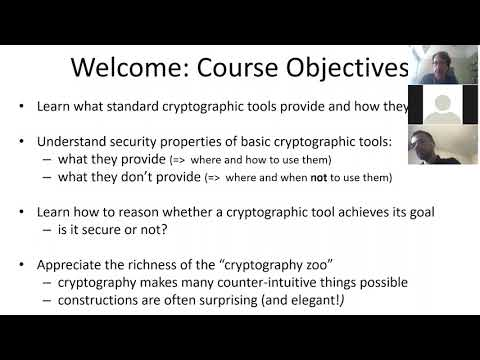 CompSci.201, Lec 1: Intro To Crypto (10/5)