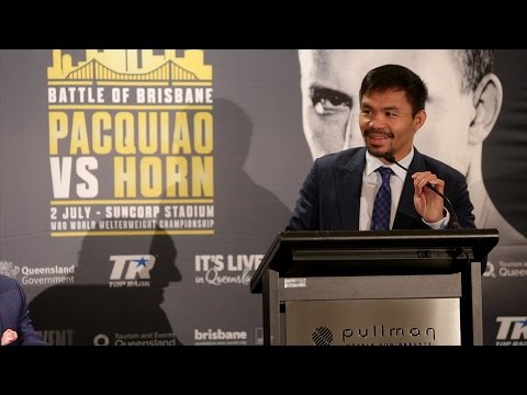 The Official Manny Pacquiao vs. Jeff Horn Kickoff Press Conference Video