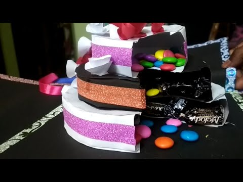 Surprise chocolate paper cake/paper cake for explosion box/Handmade paper cake