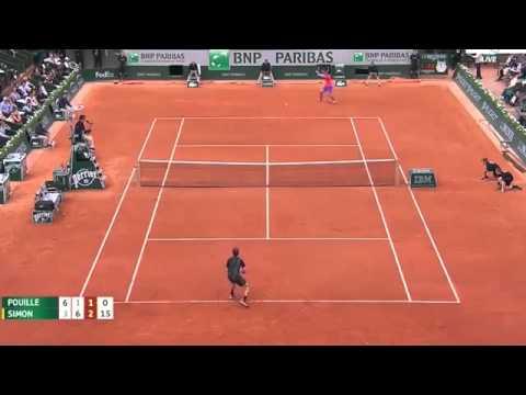 Gilles Simon vs Lucas Pouille Roland Garros 2015 Match