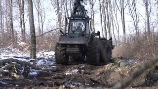 Spezialschlepper im Forsteinsatz