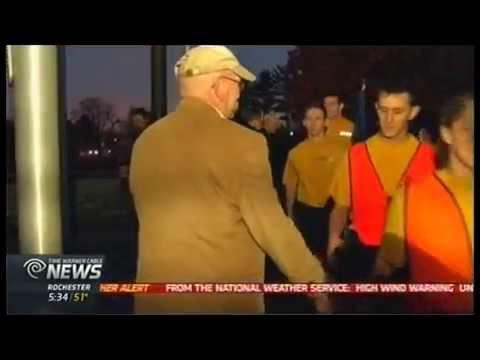 RIT on TV: ROTC troops run to Veteran's Memorial