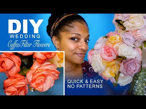 DIY | Coffee Filter Flowers (Quick no Patterns)