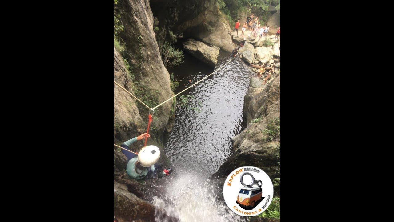 Découvrez la plus grande tyrolienne du département en canyoning ! Dans le canyon de Baossous à Céret